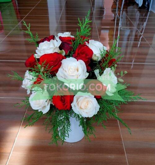 Bunga Meja Merah Putih