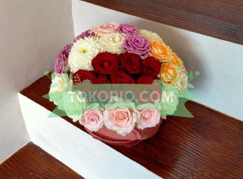 Bunga Meja Mawar Campur