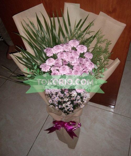 Bunga Meja Pom Pink