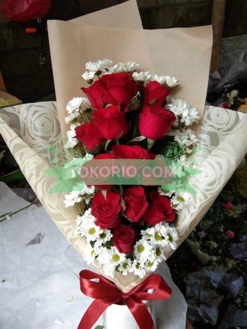 Rangkaian Bunga Aster Putih