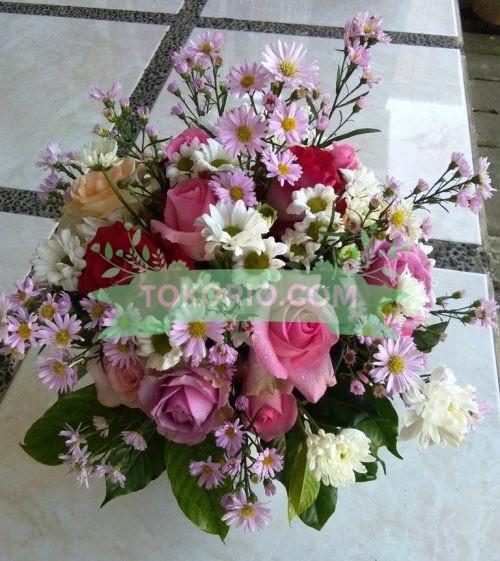 Bunga Meja Pikok Pink
